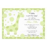 Green Giraffe Baby Shower Invitation