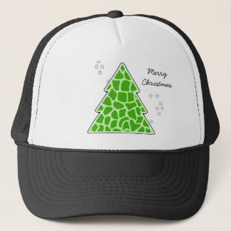 Green giraffe Christmas Tree Trucker Hat