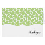 Green Giraffe Print Thank You Notes Stationery Note Card