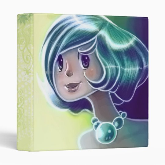 Green Girl Binder
