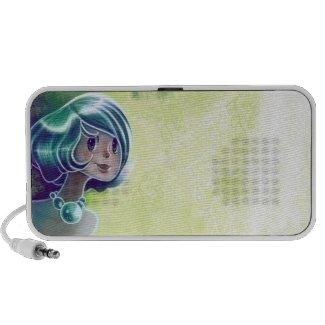 Green Girl Doodle Speakers 2 doodle