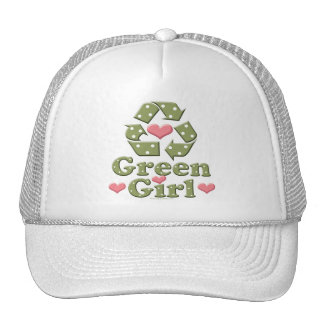 Green Girl Recycle Recycling Hat