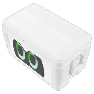 Green Glare Cartoon Eyes Chest Cooler
