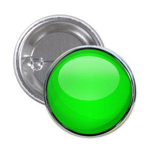 Green Glass Ball Button
