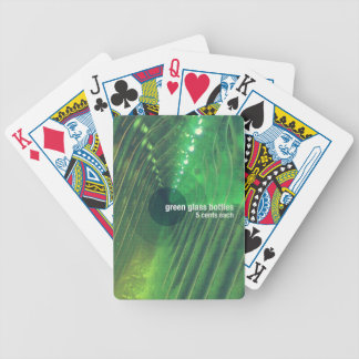 Green Glass Bottles Bicycle Playing Cards