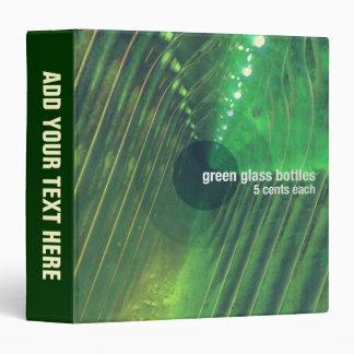 Green Glass Bottles Binder