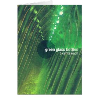 Green Glass Bottles Card