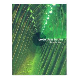 Green Glass Bottles Postcard