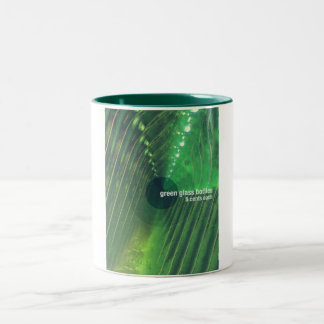 Green Glass Bottles Two-Tone Coffee Mug