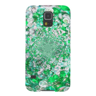 Green Glass Crystals Bubbles Effect Galaxy S5 Cover