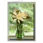Green glass gardenia I Card