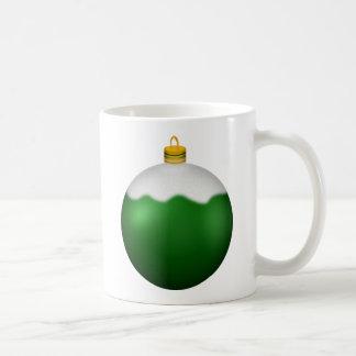 Green Glass Globe Christmas Ornament Coffee Mug