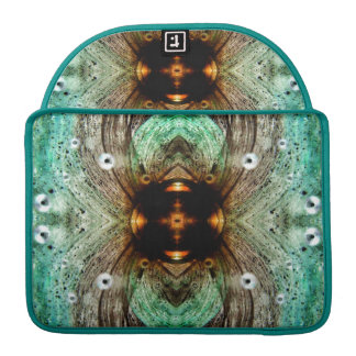 Green Glass Gold Eye Abstract MacBook Pro Sleeve