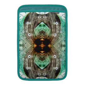 Green Glass Gold Eye Abstract Sleeve For MacBook Air