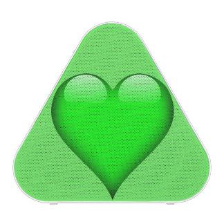 Green Glass Heart Customizable Bluetooth Speaker