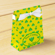 Green Glass Heart Customizable Favor Box