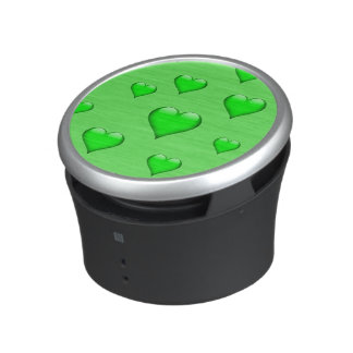 Green Glass Heart Tiled Customizable Speaker