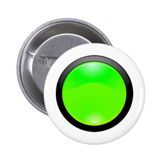 Green Glass Pinback Button
