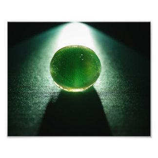 Green glass shines?