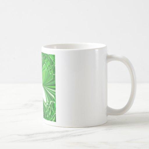 Green Glass Stones Mug