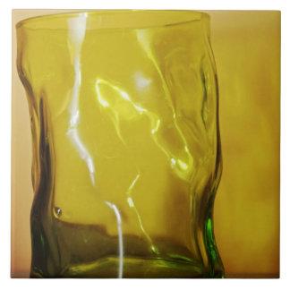 Green glass tile