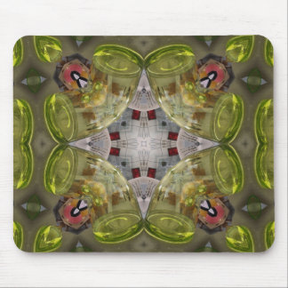 Green Glass Tubes Mouse Pad