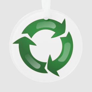 Green Glassy Recycle Symbol