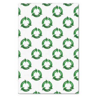 """Green Glassy Recycle Symbol 10"""" X 15"""" Tissue Paper"""