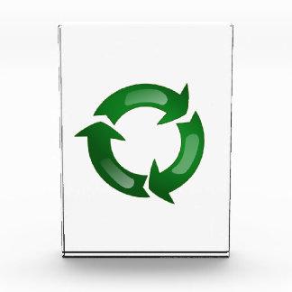 Green Glassy Recycle Symbol Awards
