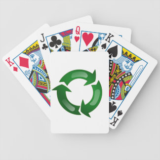 Green Glassy Recycle Symbol Card Decks