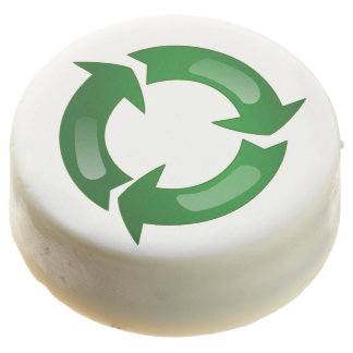 Green Glassy Recycle Symbol Chocolate Covered Oreo