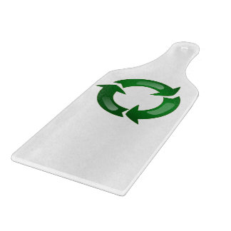 Green Glassy Recycle Symbol Cutting Board