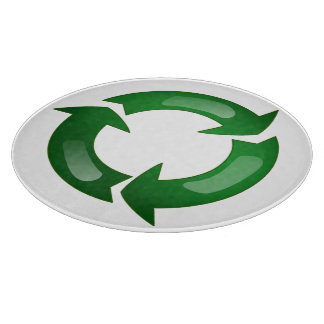 Green Glassy Recycle Symbol Cutting Boards