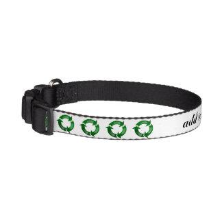 Green Glassy Recycle Symbol Dog Collars