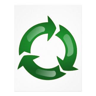 Green Glassy Recycle Symbol Flyer