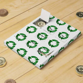 Green Glassy Recycle Symbol Chocolate Countdown Calendars