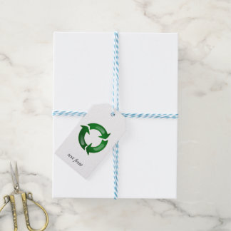 Green Glassy Recycle Symbol Pack Of Gift Tags
