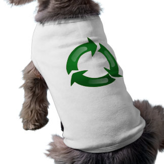 Green Glassy Recycle Symbol Pet Clothing
