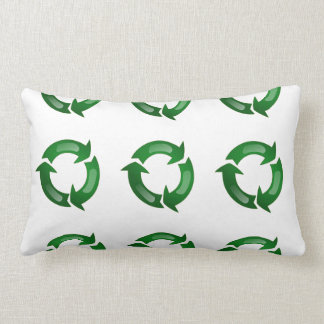 Green Glassy Recycle Symbol Pillows