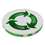 Green Glassy Recycle Symbol Poker Chips Set
