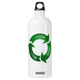 Green Glassy Recycle Symbol SIGG Traveler 1.0L Water Bottle