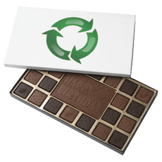Green Glassy Recycle Symbol 45 Piece Assorted Chocolate Box