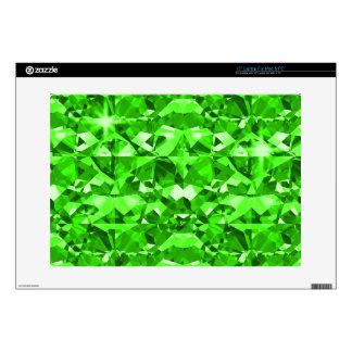 Green Gleam Diamonds Decals For Laptops