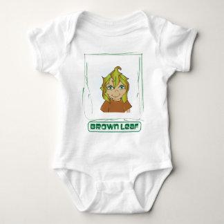 Green Glen Brown Leaf Baby Bodysuit