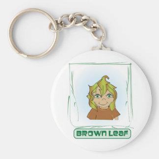 Green Glen - Brown leaf Keychain
