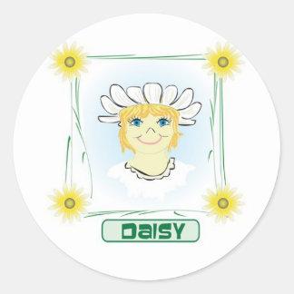 Green Glen Daisy Classic Round Sticker