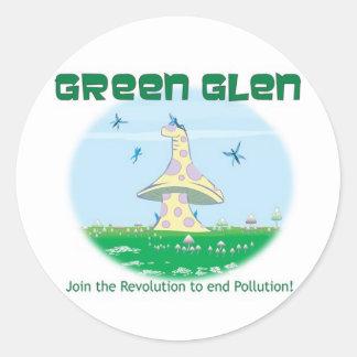 Green Glen Faire Classic Round Sticker