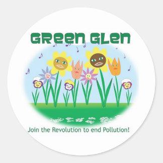 Green Glen - Flora Classic Round Sticker