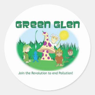 Green Glen Gang II Classic Round Sticker