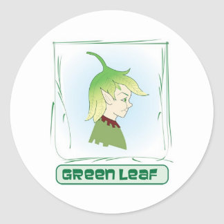 Green Glen - Green Leaf Classic Round Sticker